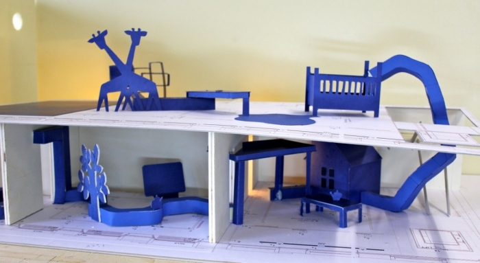 view in the maquette